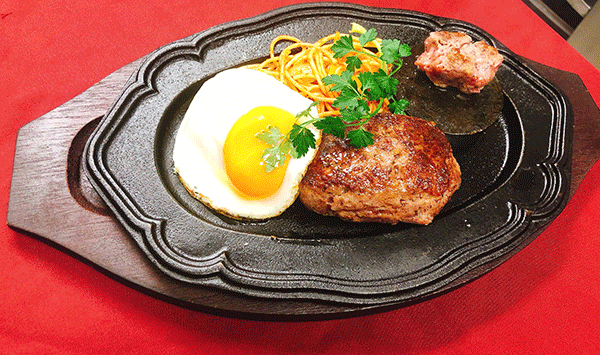 和牛ハンバーグステーキ定食 1,000円