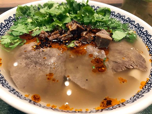 パクチーどっさり蘭州牛肉面 ¥1,100