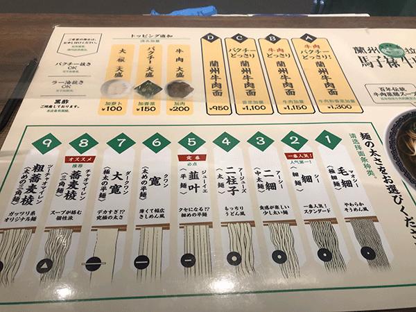 麺は9種類
