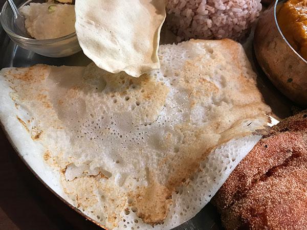 ウラド豆と米粉のパンケーキ