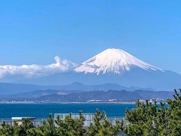 3階店内入口から見える富士山
